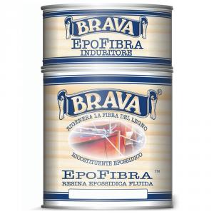 BRAVA Resina Epofibra Epossidica Fluida Da Litri 0,750 Impregnazione E Incollaggio