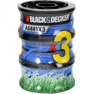 BLACK & DECKER Rocchetti A6441X3-Xj Filo In Nylon Per Decespugliatori Giardinaggio