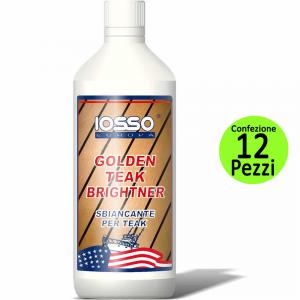 IOSSO Multipack 12 Pezzi Golden Teak Brightner Sbiancante Per Legno Litri 1
