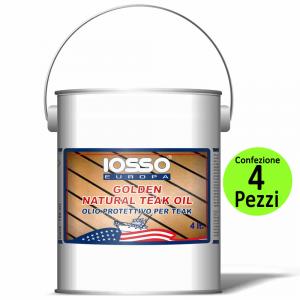 IOSSO Multipack Pezzi 4 Golden Natoral Teak Oil Olio Per Teak Litri 4