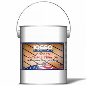 IOSSO Golden Natoral Teak Oil Olio Per Teak Litri 4 Per Nautica