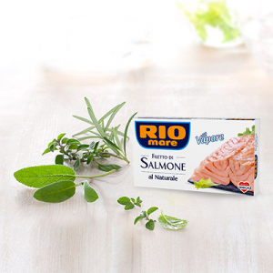 RIO MARE Filetti Di Salmone Al Naturale Grammi 125 - Made In Italy