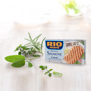 RIO MARE Filetti Di Salmone Grigliati Al Naturale Grammi 125 - Made In Italy