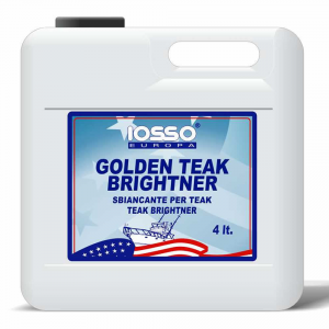IOSSO Golden Teak Brightner Sbiancante Per Legno Litri 4 Per Nautica