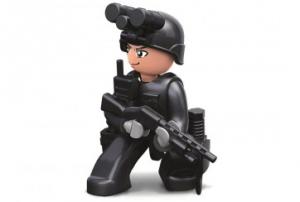 Personaggio Costruzioni Sluban poliziotto forze speciali