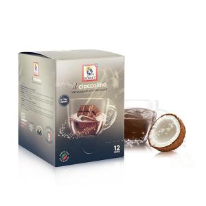 DERSUT Cioccolino Preparato Per Bevanda - Cioccolato Cocco 12 Bust. - 25 G Made in Italy