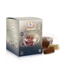 DERSUT Cioccolino Preparato Per Bevanda - Cioccolato Gianduia 12 Bust. - 25 G Made in Italy