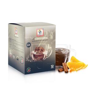 DERSUT Cioccolino Preparato Bevanda - Cioccolato Arancia Cannella 12 Bust. - 25 G Made in Italy