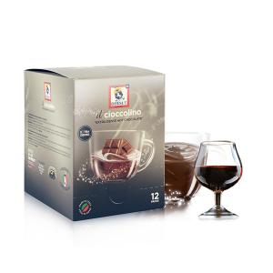 DERSUT Cioccolino Preparato Per Bevanda - Cioccolato Rum 12 Bust. - 25 G Made in Italy