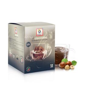 DERSUT Cioccolino Preparato Per Bevanda - Cioccolato Nocciola 12 Bust. - 25 G Made in Italy