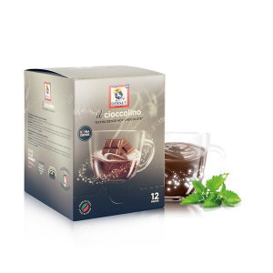 DERSUT Cioccolino Preparato Per Bevanda - Cioccolato Menta 12 Bust. - 25 G Made in Italy
