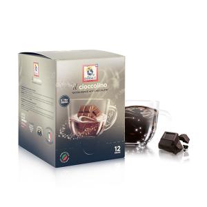 DERSUT Cioccolino Preparato Per Bevanda - Cioccolato Fondente 12 Bust. - 25 G Made in Italy