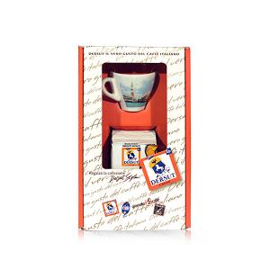 DERSUT Confezione Speciale Miscela Di Caffè Macinato Sp 125 G + 1 Tazzina Venezia A Sorpresa Made in Italy