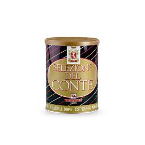 DERSUT Caffè Macinato 100% Arabica Selezione Del Conte - 250 G In Lattina Made in Italy