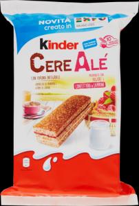 KINDER FERRERO Cereale Lampone Confezione 10 Pezzi 275 Grammi Snack Dolce