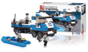 Costruzioni Sluban camionetta polizia e gommone