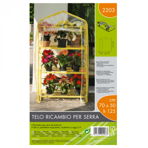 VERDEMAX Telo Ricambio Serra (70X50X125 Cm) Gialle Giardino