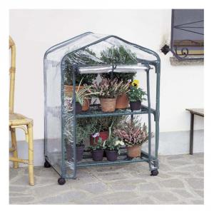 VERDEMAX Serra Da Giardino A 2 Ripiani Robusta Con Ruote Giardino