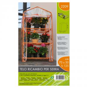 VERDEMAX Telo Ricambio Serra (70X50X125 Cm) Arancione Giardino