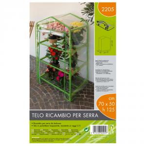 VERDEMAX Telo Ricambio Serra (70X50X125 Cm) Verde Chiaro Giardino