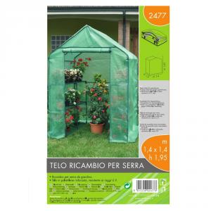 VERDEMAX Telo Ricambio Per Serra (140 X 140 H 195 Cm) Giardino