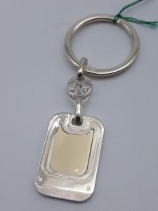 Portachiavi in argento 925 con riporto in oro 750, vendita on line | GIOIELLERIA BRUNI Imperia