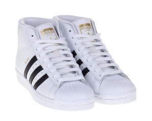 SNEAKERS ADIDAS PRO MODEL S85956 WHITE/BLACK GOLD