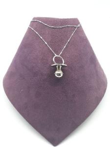 Collana donna in argento 925 con ciondolo a ciuccio in vendita on line | BRUNI OREFICERIA