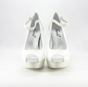Décolleté donna elegante da cerimonia in tessuto di raso con inserti glitter e cinghietta regolabile alla caviglia  Art.MARTA Gi. Effe Ci