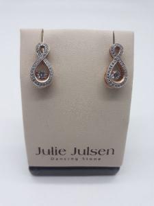 Orecchini Dancing Stone by Julie Julsen con zirconi in argento 925 | GIOIELLERIA BRUNI Imperia