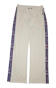 Pantalone in triacetato con bottoni automatici e banda con logo laterale Champion