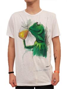 T-shirt in cotone dipinta a mano Notprinted