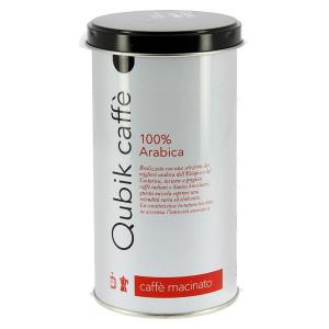 Qubik Puro Arabica caffè macinato per moka lattina da 250 gr