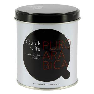 Qubik Puro Arabica caffè macinato per moka lattina da 125 gr