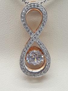 Ciondolo Dancing Stone by Julie Julsen con zirconi in argento 925 | GIOIELLERIA BRUNI Imperia