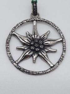 Ciondolo Donna Stella Alpina Edelweiss in argento 925, vendita on line | GIOIELLERIA BRUNI Imperia