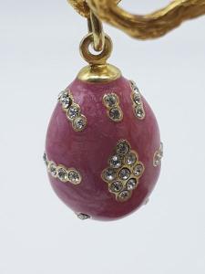 Ciondolo donna uovo con zirconi, smaltato a fuoco in argento dorato 925 | GIOIELLERIA BRUNI IMPERIA