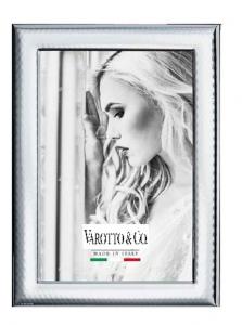 Cornice in Argento grande per foto 20x30 stile Martellata cm.36,5x26,5x1h