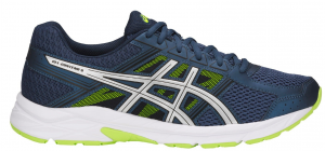 SCARPE ASICS GEL-CONTEND 4 RUNNING T715N-4993 DARK BLUE/SILVER/SAFETY YELLOW