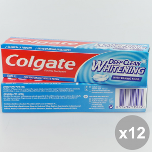 Set 12 COLGATE 100Ml Deep Clean Whitening - Cura del Viso