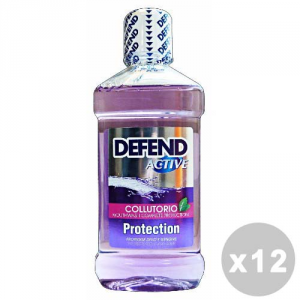 DEFEND Set 12 DEFEND Colluttorio active 500 ml. - dentifrici