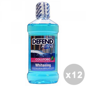 DEFEND Set 12 DEFEND Colluttorio active whitening 500 ml. - dentifrici