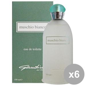 Set 6 GANDINI Muschio Bianco Eau de toilette Colonia 100 Ml. Profumi