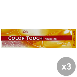Set 3 COLOR TOUCH Professionale RELIGHTS-03 Naturale Dorato Prodotti per capelli