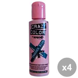Set 4 CRAZY COLOR 45 PEACOCK BLUE 100 Ml. Prodotti per capelli