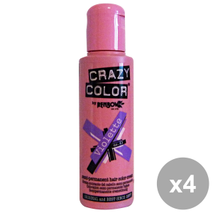 Set 4 CRAZY COLOR 43 VIOLETTE 100 Ml. Prodotti per capelli