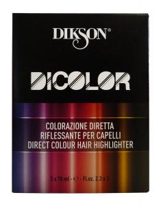 DIKSON DICOLOR Professionale Diretto 4.0 Castano X 3 Pezzi ESTROSAazione capelli