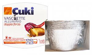 CUKI Contenitori alluminio creme caramel * 12 pz.