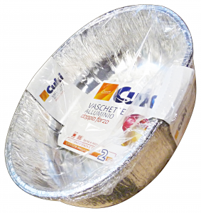 CUKI Contenitori alluminio pollo arrosto *2 pz.
