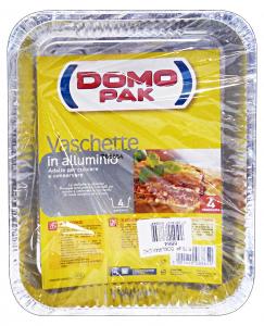 DOMOPAK Contenitori alluminio 4 porzioni senza coperchio * 4 pz.